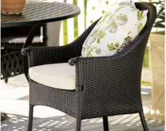 Set of 2 Amalfi Wicker Arm Chairs traditional outdoor chairs