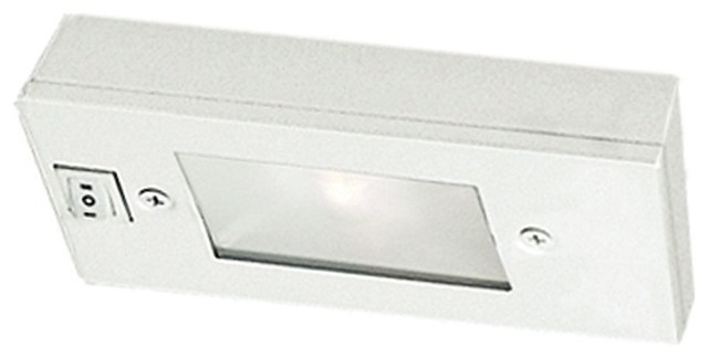"WAC White Xenon 6"" Wide Under Cabinet Light Bar modern-kitchen-lighting-and-cabinet-lighting"