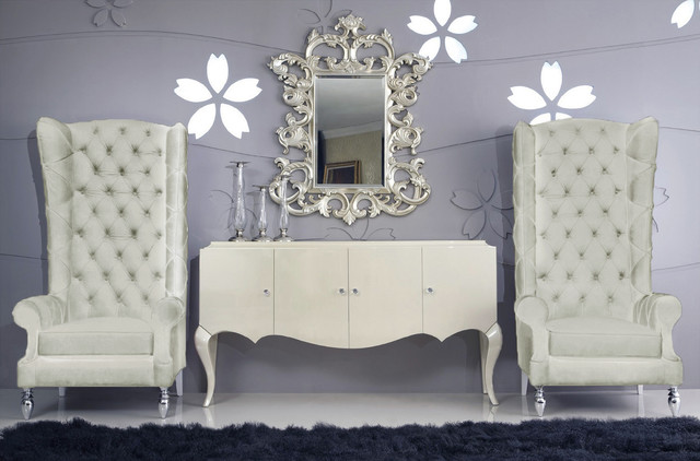 Baroque High Back Chair Modern Armchairs And Accent