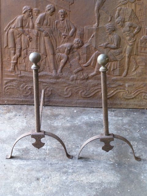 - Antique andirons traditional-fireplace-accessories