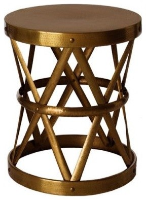 Costello Antique Brass Side Table contemporary-side-tables-and-end-tables