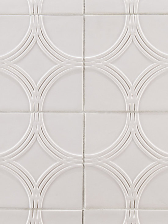 "Ceramic - ANN SACKS Circa 6"" x 6"" interlace circle ceramic field in bright white matte"