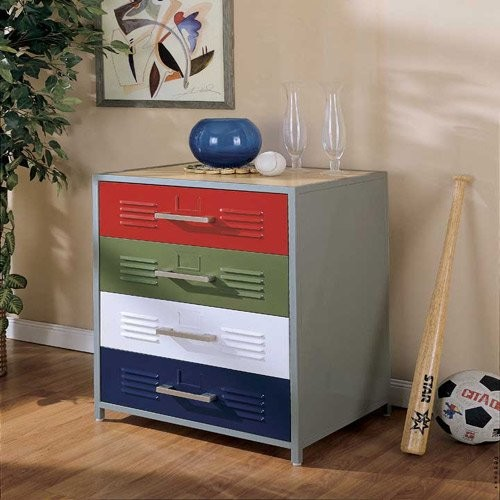 powell locker room style 4 drawer dresser eclectic dressers by