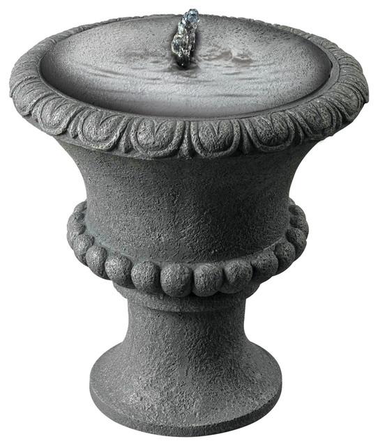 Landscape Lighting Northbrook: Kenroy 50031CON Garden Urn Solar Table Top Fountain