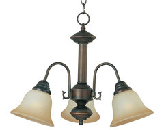 Maxim Lighting 2697WSOI Malaga 3-Light Chandelier transitional-chandeliers