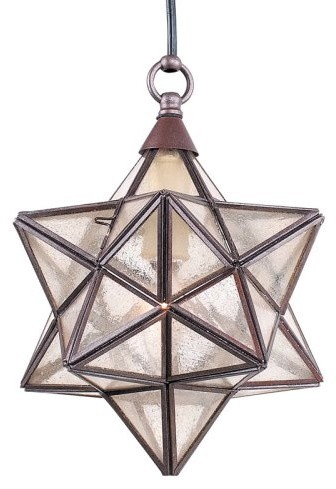 Royce Lighting Royce Marrakech Portable Indoor/Outdoor Star Pendant Light - 8.5W eclectic-pendant-lighting