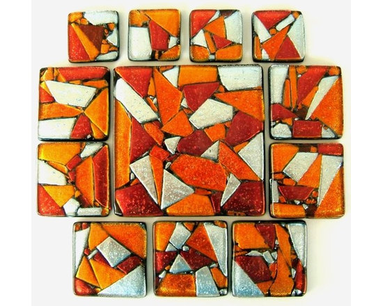 Glass tile accents in custom sizes by Uneek Glass Fusions - Uneek Glass Fusions Accent Tile in Custom Colors, Sizes, and Designs