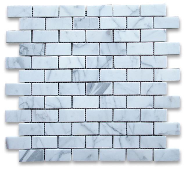Calacatta Gold Marble Subway Tile : Calacatta gold subway brick mosaic tile polished