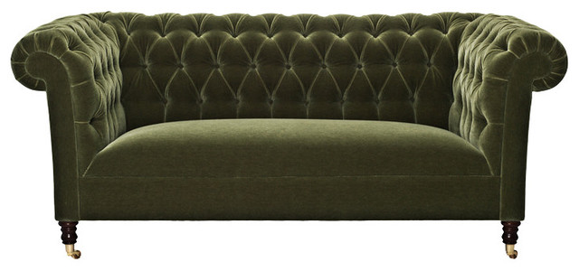 Green Velvet Chesterfield Sofa eclectic sofas