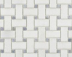 Blue Celeste Basketweave Stone Mosaic  - Ann Sacks Tile & Stone traditional-tile