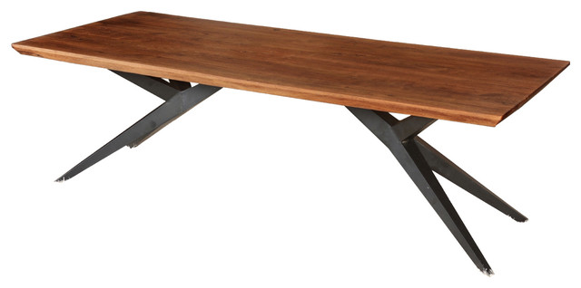 Sierra Spyder Solid Wood Dining Table Contemporary Dining Tables