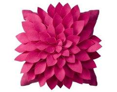 Felt Flower Decorative Pillow contemporary-decorative-pillows