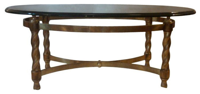 SOLD OUT!  Vintage La Barge Brass Cocktail Table - $2,000 Est. Retail - $700 on transitional-coffee-tables