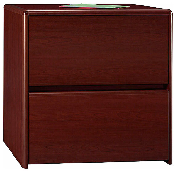 Melamine Top Two Drawer Lateral File Cabinet - Contemporary - Filing Cabinets - by ShopLadder