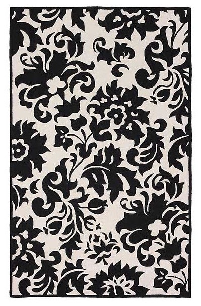 accents black white feather rug modern rugs by rugs on the web