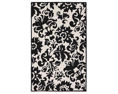 Accents Black White Feather Rug modern rugs