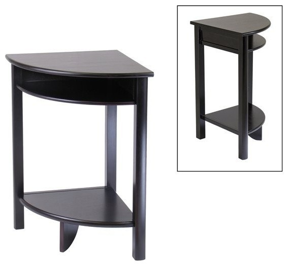 Winsome wood 92720 liso corner end table contemporary for Corner side table