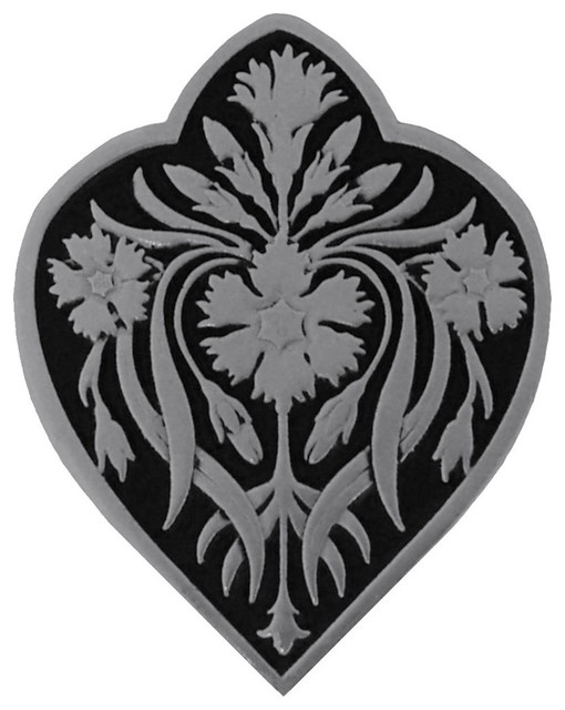 Dianthus Knob (brilliant pewter-black) traditional-cabinet-and-drawer-knobs