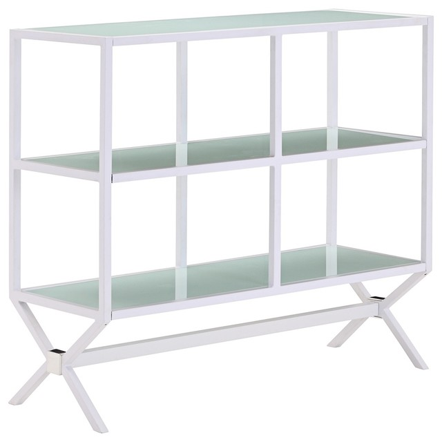 Zuo Xert Modern White and Glass Buffet Console contemporary buffets and sideboards