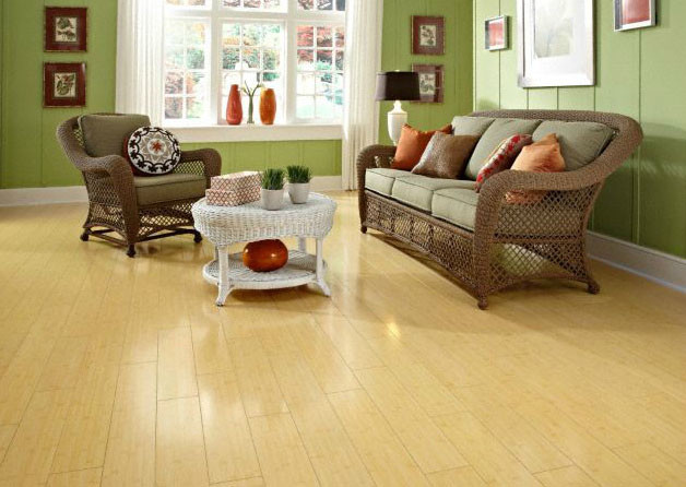 Dream home st james horizontal natural bamboo laminate for Laminate flooring portland