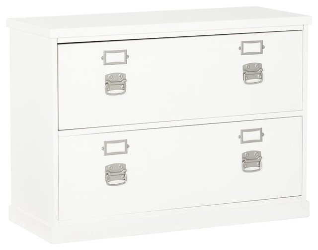 Bedford Lateral File Cabinet, Antique White - Traditional - Filing Cabinets - by Pottery Barn