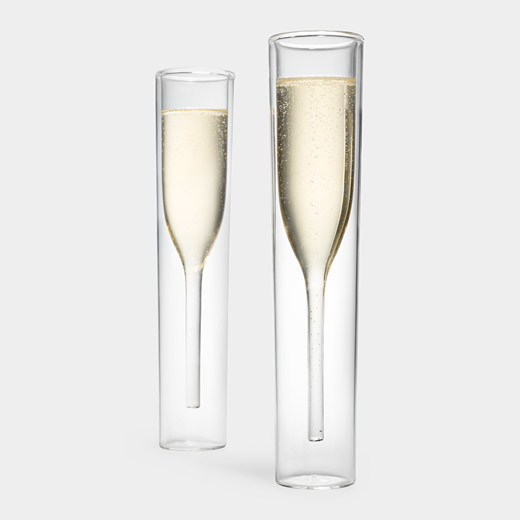Inside-Out Champagne Glasses, Set of 2 contemporary-wine-and-bar-tools