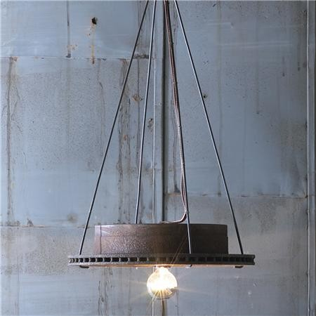 rotor pendant industrial pendant lighting by shades of light. Black Bedroom Furniture Sets. Home Design Ideas
