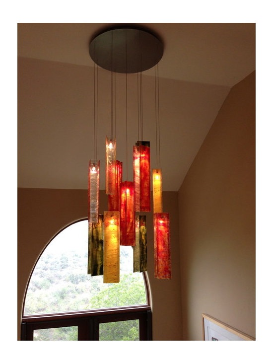 Modern chandelier - Exotic candle chandelier - Galilee Lighting - Exotic candle elegant chandelier
