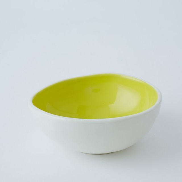 Colored Glaze Prep Bowl, Citrus contemporary-dining-bowls