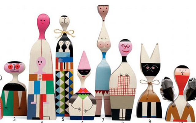 Alexander Girard Wooden Dolls modern artwork