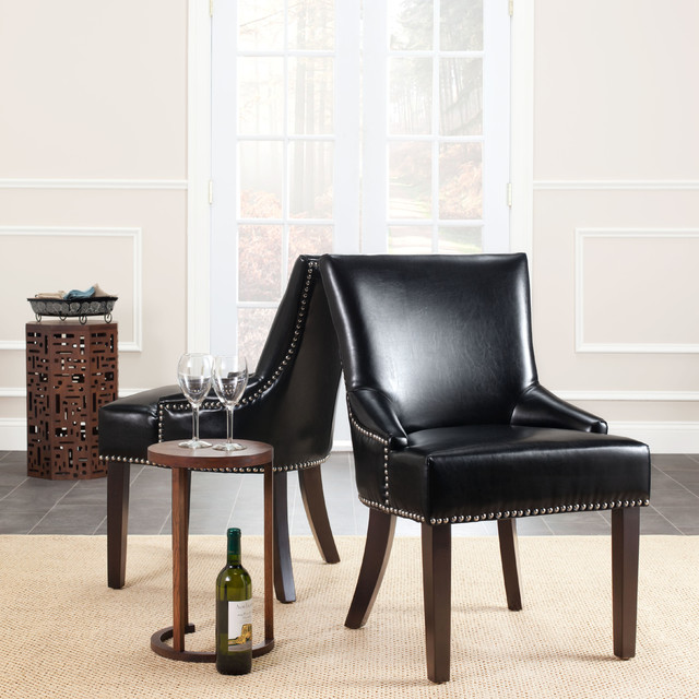 Black Leather Dining Chairs Products on Houzz