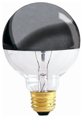 half chrome g 25 medium base bulb modern light bulbs. Black Bedroom Furniture Sets. Home Design Ideas
