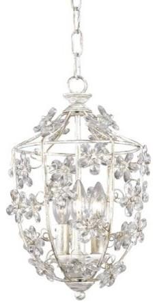 Crystorama Antique White Lantern Pendant Chandelier contemporary-chandeliers
