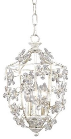 Crystorama Antique White Lantern Pendant Chandelier modern chandeliers