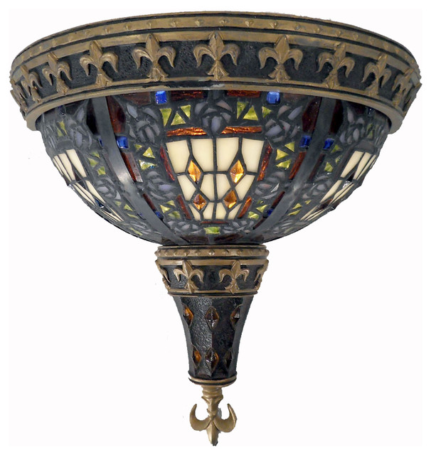 Tiffany Style Roman Mosaic Wall Lamp - contemporary - wall sconces ...