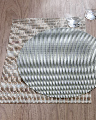 Four Rectangular Lattice Place Mats, White traditional-placemats