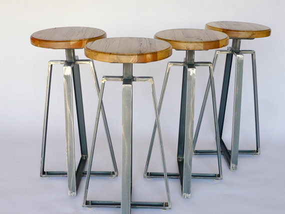 Industrial Channel Iron Stool by Nyen Designs contemporary-bar-stools-and-counter-stools