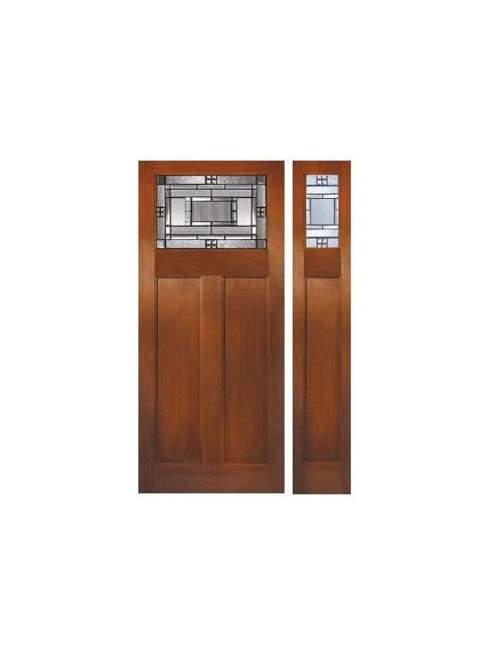 Fir Grain  Fiberglass Door - FIR GRAIN SERIES 6_8_DIRECT GLAZED CRAFTSMAN_ METROPOLIS_Patina