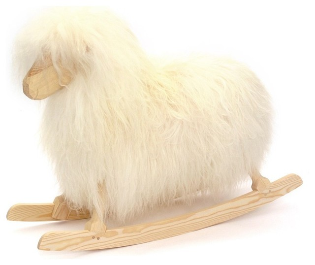 Rocking Sheep White Contemporary Gliders By Smallable