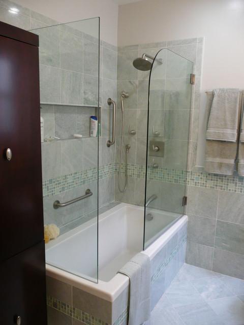 allen - master tub transitional-bathroom