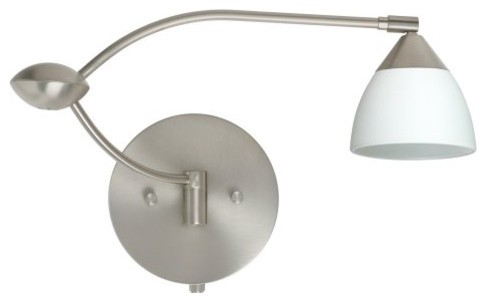 Besa 1WU-185807 Opal Matte Divi Wall Light - 13W in. contemporary-wall-lighting