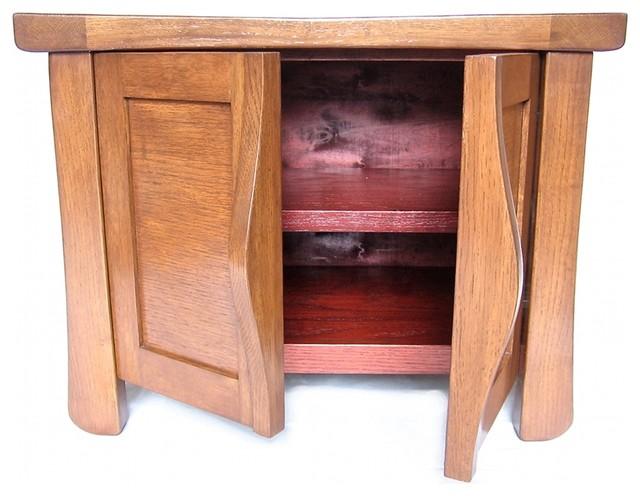 Recycled oak wine barrels closet-storage