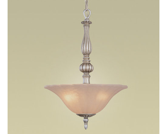 Eurofase Lighting - Eurofase Lighting 15997 Three Light Down Lighting Bowl Pendant Kayla Co - Three Light Bowl Pendant from the Kayla CollectionThe fluid movement of the lithe silver arms invoke harmonious, natural elements. The bulbs balance on an engraved base, and the fluted centre grounds the designed flow of superior emanation.