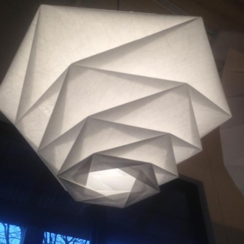 Artemide fukurou pendant lamp by issey miyake pendant for Artemide issey miyake
