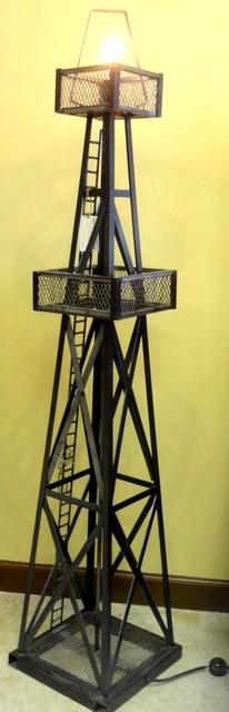 Oil Derrick Floor Lamp traditional-floor-lamps
