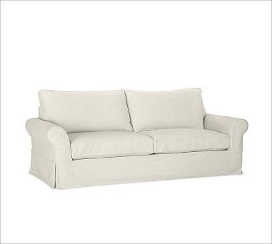PB Comfort Roll-Arm Slipcovered Grand Sofa, Polyester Wrap Cushions, Brushed Can traditional-sofas