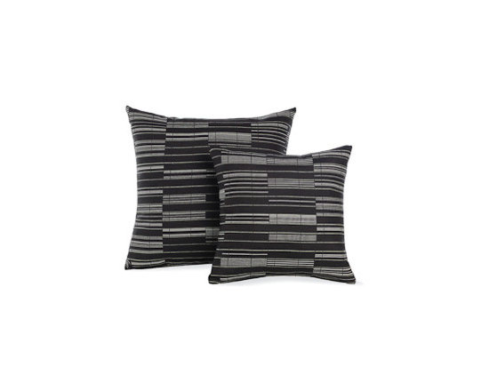 """Outdoor Pillows in Octave Maharam Fabric - Designed by Design Within Reach Suitable for indoor and outdoor use, these Pillows (2011) are upholstered in Maharam fabrics with a stain-resistant finish. For best results, store cushions inside during inclement weather. Made in U.S.A. DWR Exclusive Share this: Item# Product Qty Price 26857 18"""" Outdoor Pillows in Octave Maharam Fabric Was: $85.00 USD Now: $72.25 USD Select a Color Black.Natural - $72.25 Mustard - $72.25 Sea.Green - $72.25 26862 24"""" Outdoor Pillows in Octave Maharam Fabric Was: $105.00 USD Now: $89.25 USD Select a Color Black.Natural - $89.25 Mustard - $89.25 Sea.Green - $89.25 Measurements: H 18"""" W 18"""" H 24"""" W 24"""" Materials: Upholstered in Maharam Octave fabric (65% Sunbrella® contract solution-dyed acrylic, 35% Sunbrella® contract solution-dyed polyester); polyester-wrapped foam. Measurements & Materials More Information Measurements: H 18"""" W 18"""" H 24"""" W 24"""" Materials: Upholstered in Maharam Octave fabric (65% Sunbrella® contract solution-dyed acrylic, 35% Sunbrella® contract solution-dyed polyester); polyester-wrapped foam."""