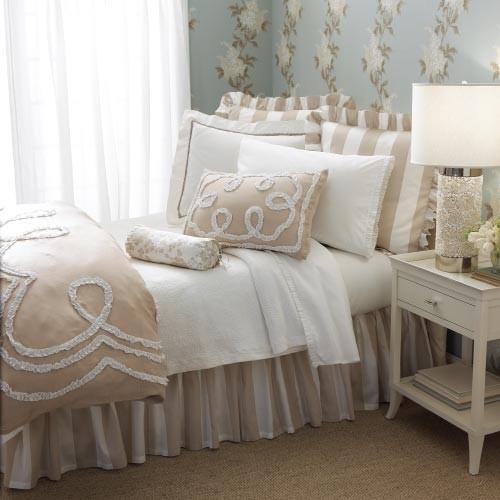 White Tan Bedding