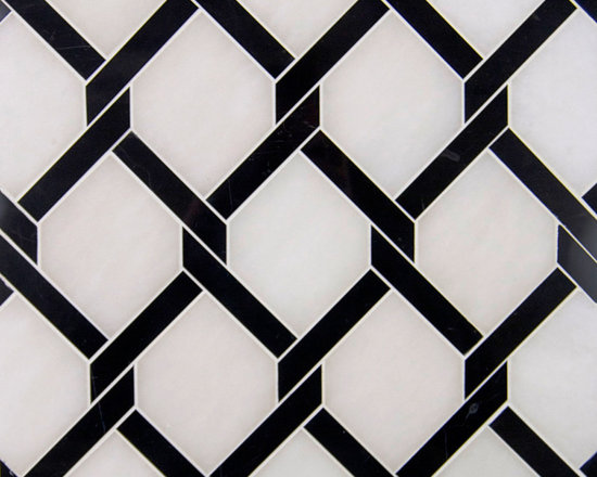 Stone Mosaic - Stock in Trade Collection stone mosaic | Hex Weave Pattern