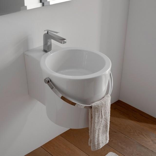 Bucket Vessel Sink : Mounted or Vessel Bathroom Bucket Sink - Contemporary - Bathroom Sinks ...